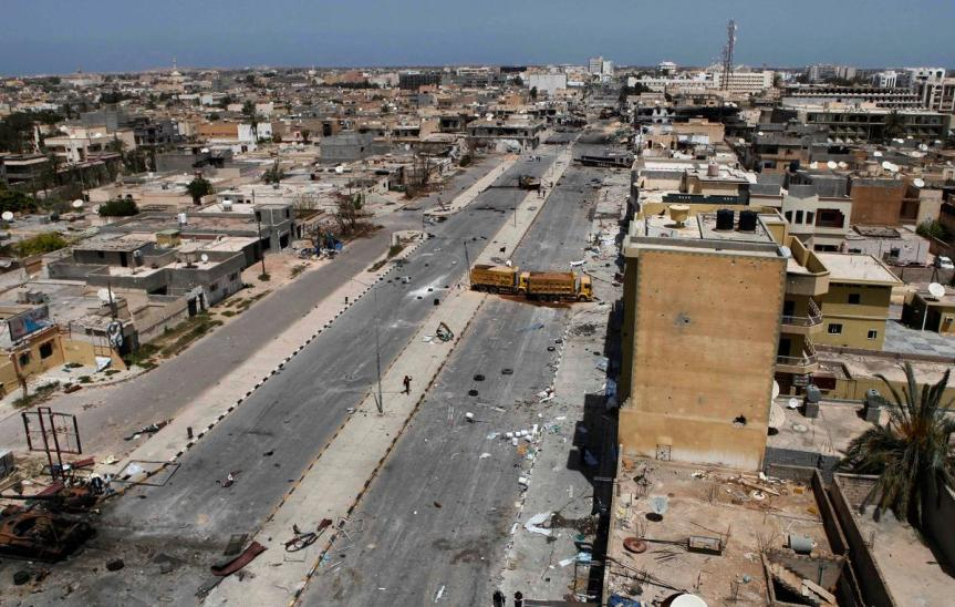 war destruction in libya
