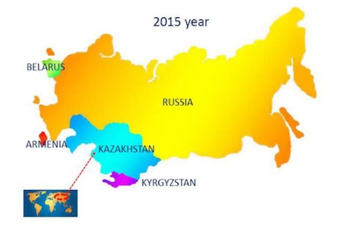 EAEU - Eurasian Economic Union - map