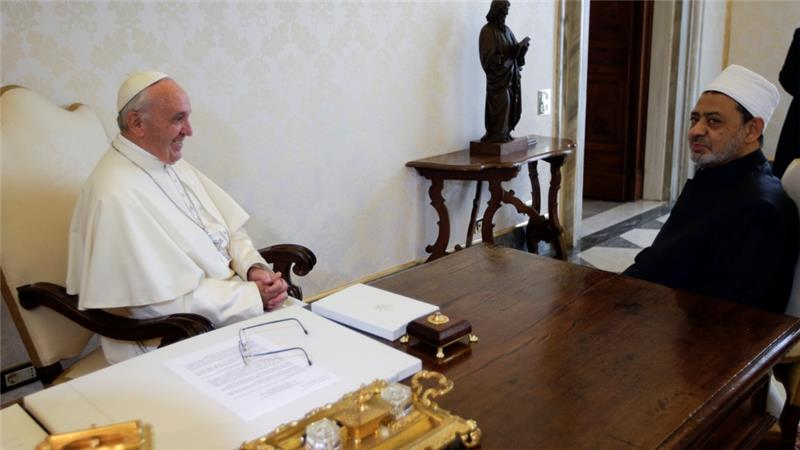 Pope in historic talks with Grand Imam of Al-Azhar