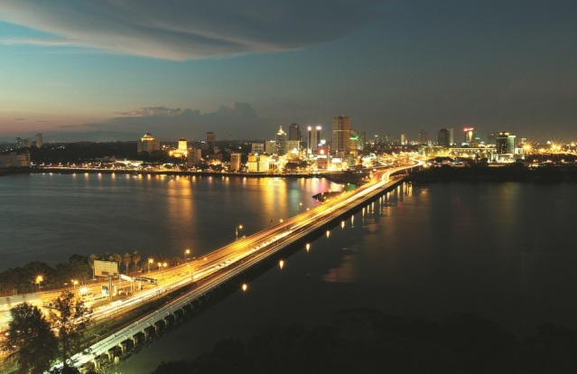 Johor Bahru from Singapore
