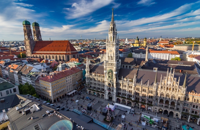 city center of  Munich, Germany