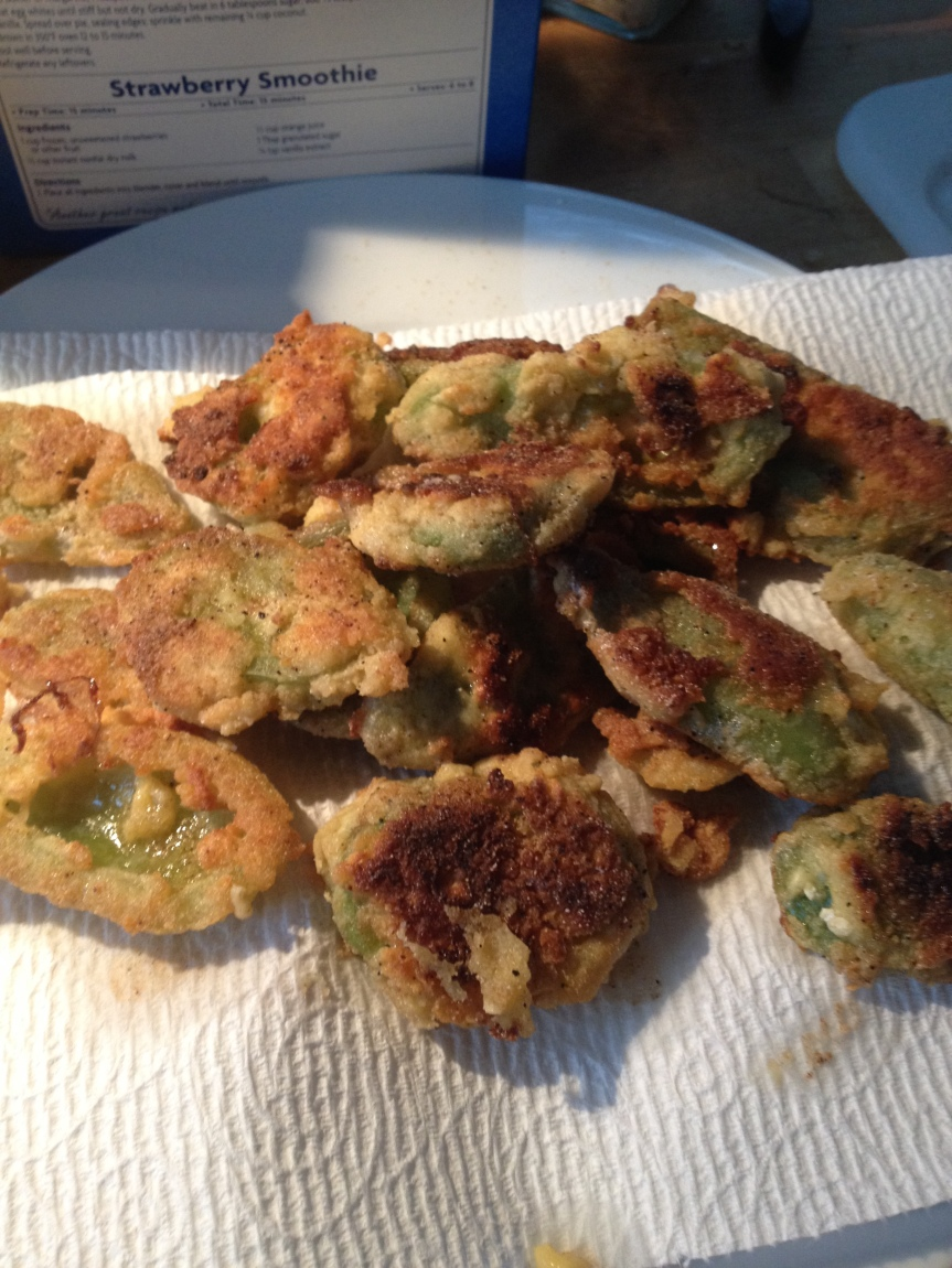 Fried Green Tomatoes… Messy Goodness