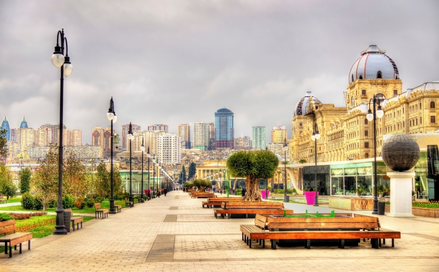Panorama of Baku from Winter Park