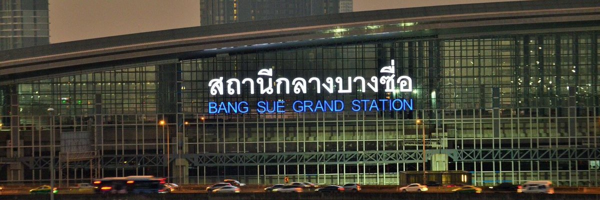 The brand new Bang Sue Central Station in Bangkok was built specifically to service high-speed trains.